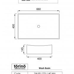 törinö BS1231 Counter Top Wash Basin