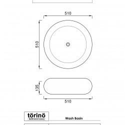 törinö BS1233 Counter Top Wash Basin