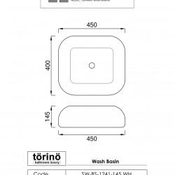 törinö BS1241 Counter Top Wash Basin