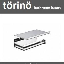 törinö Roll Holder with Phone Shelf T2 Series (Toilet Tissue Paper Roll Holder With Phone Holder)