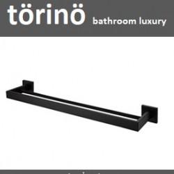 törinö Double Towel Bar T7 Matte Black Series