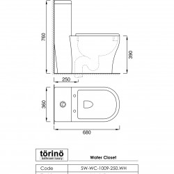 törinö SA-WC-1009-250.WH
